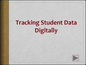 Tracking Student Data Digitally Data Tracking WHY In