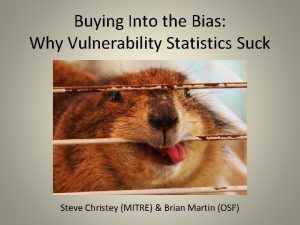 Buying Into the Bias Why Vulnerability Statistics Suck