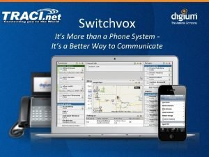 Switchvox Its More than a Phone System Its