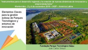 Instrumentos para el desarrollo regional y la creacin