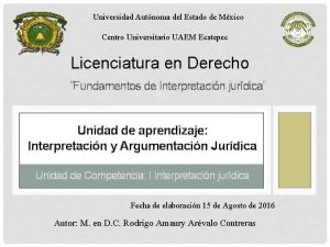 Universidad Autnoma del Estado de Mxico Centro Universitario