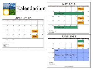 Kalendarium Wykad Zajcia terenowe Wykad Sesja Egzamin pisemny