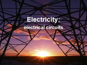 Electricity electrical circuits Four circuits Draw a line