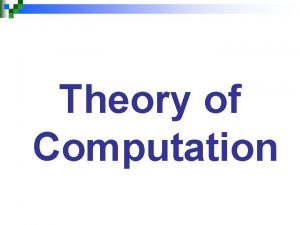 Theory of Computation Transition Graph Definition A Transition