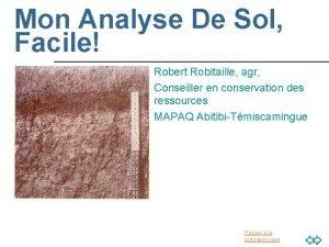 Mon Analyse De Sol Facile Robert Robitaille agr
