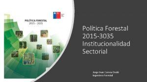 Poltica Forestal 2015 3035 Institucionalidad Sectorial Jorge Ivan