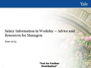 Salary Information in Workday Advice and Resources for
