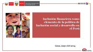 Inclusin financiera como elemento de la poltica de