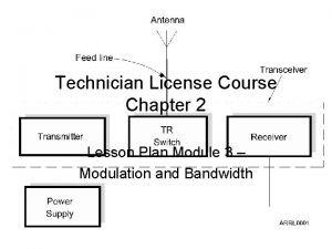 Technician License Course Chapter 2 Lesson Plan Module
