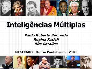 Inteligncias Mltiplas Paulo Roberto Bernardo Regina Fazioli Rita
