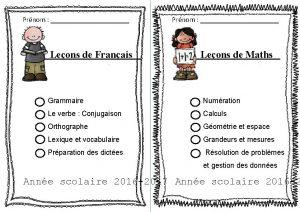 Prnom Leons de Franais Prnom Leons de Maths