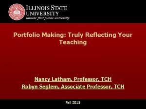 Presentation Title View Master Slide Master Portfolio Making