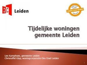 Tijdelijke woningen gemeente Leiden Lex Kamphues gemeente Leiden