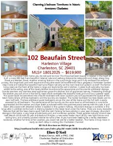 Charming 3 bedroom Townhome in historic downtown Charleston