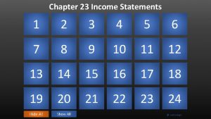 Chapter 23 Income Statements 1 2 3 shows