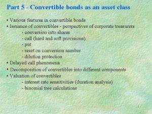 Part 5 Convertible bonds as an asset class