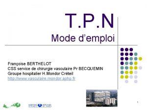 T P N Mode demploi Franoise BERTHELOT CSS