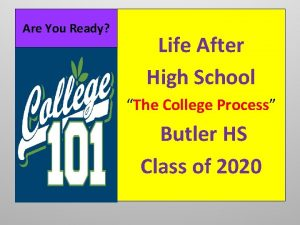 Are You Ready Life After High School The