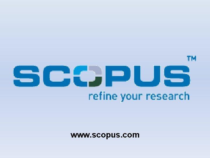 www scopus com O que a Scopus A