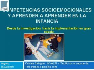 COMPETENCIAS SOCIOEMOCIONALES Y APRENDER A APRENDER EN LA