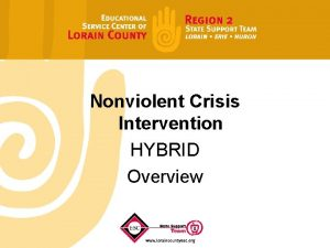 Nonviolent Crisis Intervention HYBRID Overview Certified Trainer Moira