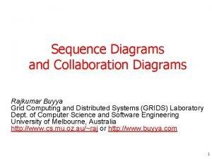 Sequence Diagrams and Collaboration Diagrams Rajkumar Buyya Grid