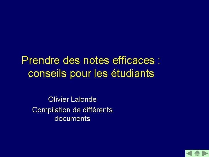 Prendre des notes efficaces conseils pour les tudiants