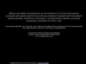 Efficacy and safety of guselkumab an antiinterleukin23 monoclonal
