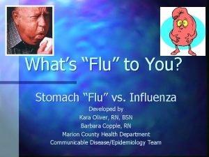 Whats Flu to You Stomach Flu vs Influenza