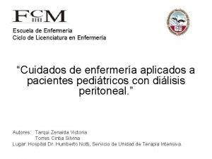 Escuela de Enfermera Ciclo de Licenciatura en Enfermera