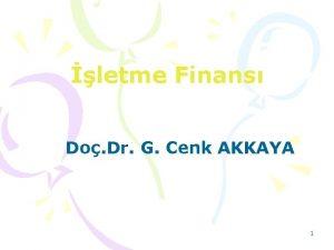letme Finans Do Dr G Cenk AKKAYA 1
