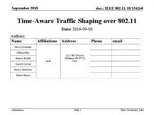 September 2018 doc IEEE 802 11 181542 r