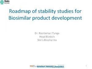 Roadmap of stability studies for Biosimilar product development