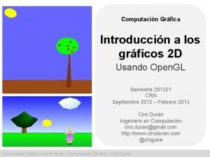 Computacin Grfica Introduccin a los grficos 2 D
