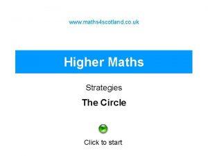 www maths 4 scotland co uk Higher Maths