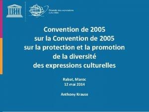 Convention de 2005 sur la protection et la