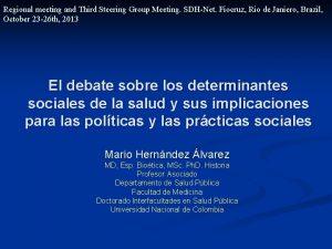Regional meeting and Third Steering Group Meeting SDHNet