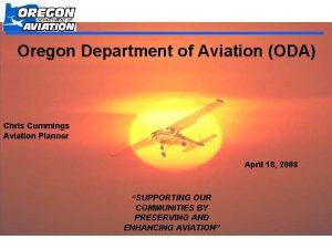 Oregon Department of Aviation ODA Chris Cummings Aviation