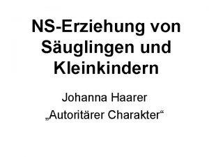 NSErziehung von Suglingen und Kleinkindern Johanna Haarer Autoritrer