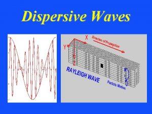 Dispersive Waves Dispersive Waves ccf Dispersive Waves C