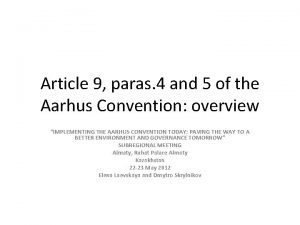 Article 9 paras 4 and 5 of the