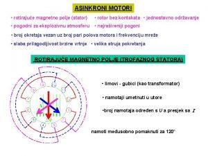 ASINKRONI MOTORI rotirajue magnetno polje stator rotor bez