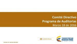 Comit Directivo Programa de Auditorias Marzo 18 de