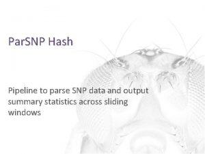 Par SNP Hash Pipeline to parse SNP data