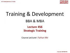 Skill Development at its Best Training Development BBA