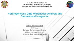 International Doctorate School in Information and Communication Technologies