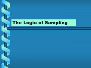 The Logic of Sampling Methods of Sampling Nonprobability