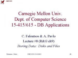 CMU SCS Carnegie Mellon Univ Dept of Computer