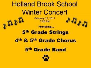 Holland Brook School Winter Concert February 27 2017