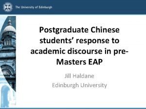 Postgraduate Chinese students response to academic discourse in
